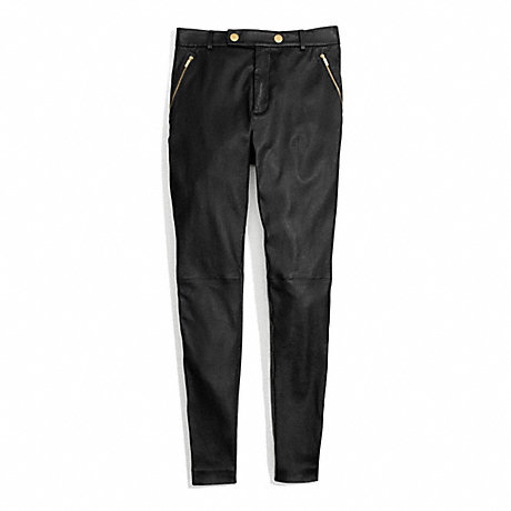COACH LEATHER HIGH WAISTED TROUSER -  - f84388