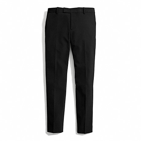 COACH STRETCH TWILL CIGARETTE TROUSER -  - f84389
