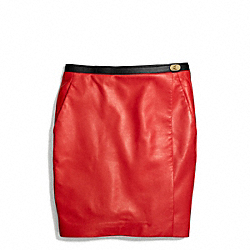 COACH LEATHER SLOUCHY WRAP SKIRT - ONE COLOR - F84394