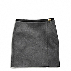 COACH DOUBLE FACE WOOL SLOUCHY WRAP SKIRT - ONE COLOR - F84397