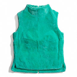 REX RABBIT SLEEVELESS TUNIC - TURQUOISE - COACH F84398
