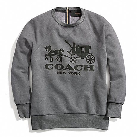 COACH HORSE AND CARRIAGE SWEATSHIRT WITH LEATHER -  - f84402