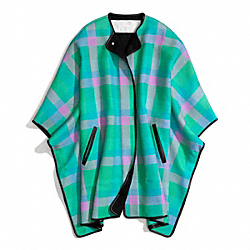 BONNIE CHECK BLANKET CAPE - f84403 - 30086