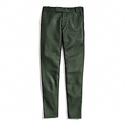 LEATHER CIGARETTE TROUSER - FOREST - COACH F84404
