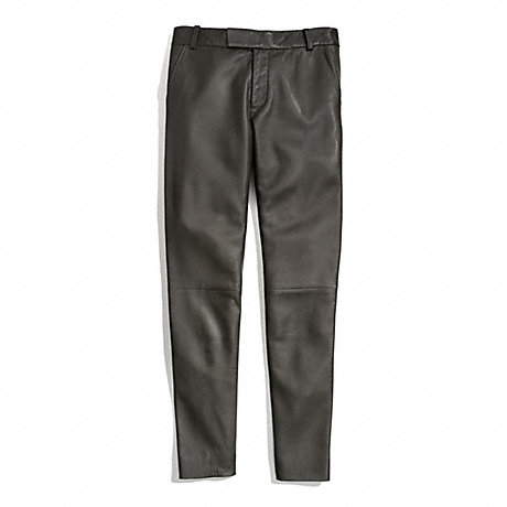 COACH LEATHER CIGARETTE TROUSER -  - f84404