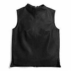 LEATHER SLEEVELESS TUNIC - f84408 - 30123