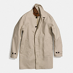 COACH LIGHTWEIGHT HUDSON CAR COAT - STONE - F84416