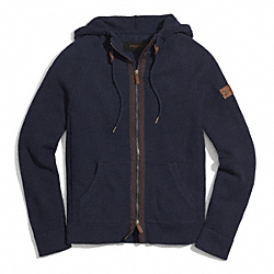 COACH COTTON ZIP HOODIE - ONE COLOR - F84513