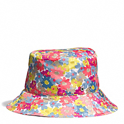 COACH HADLEY FLORAL CRUSHABLE RAIN HAT - ONE COLOR - F84542