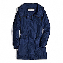 COACH LONG ANORAK - NAVY - F84546