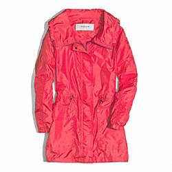 COACH LONG ANORAK - WATERMELON - F84546