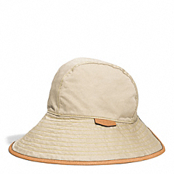 COACH HADLEY PETAL HAT - KHAKI/SUNGLOW - F84556