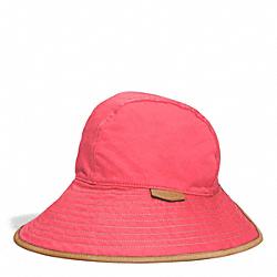 COACH HADLEY PETAL HAT - CORAL/KHAKI - F84556
