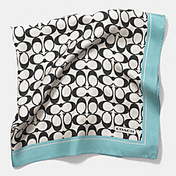 SIGNATURE C 27 x 27 SCARF - DUCK EGG BLUE - COACH F84562