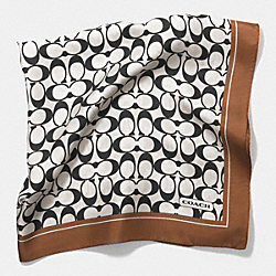 COACH SIGNATURE C 27 x 27 SCARF - NEUTRAL - F84562