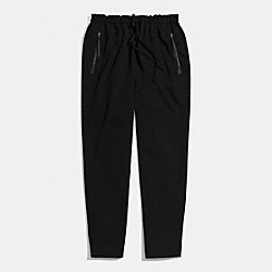 WOVEN SLOUCHY TRACK PANT - BLACK - COACH F84570