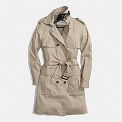 COACH COTTON SUMMER TRENCH - KHAKI - F84571