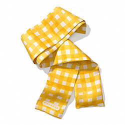GINGHAM PONYTAIL SCARF - SUNGLOW - COACH F84582