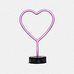HEART NEON LIGHT - PINK - COACH F84619PIN
