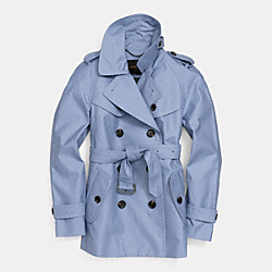 COACH SHORT TRENCH - BLUE - F84759