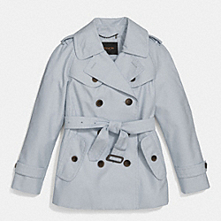 COACH SHORT TRENCH - CHAMBRAY - F84759