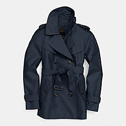 SHORT TRENCH - f84759 -  INDIGO
