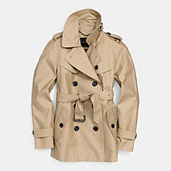 COACH SHORT TRENCH - KHAKI - F84759