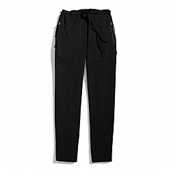 WOVEN SLOUCHY TRACK PANTS - BLACK - COACH F84791