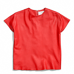 THE LEATHER TEE - f84800 - LOVE RED