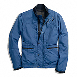 COACH VARICK FIELD JACKET - LIGHT GOLD/PERIAL BLUE - F84829
