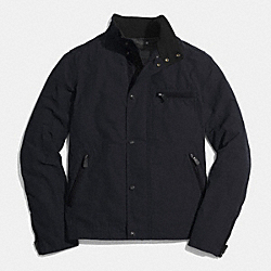 BOWERY SHORT ZIP JACKET - NAVY - COACH F84842