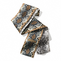 COACH PYTHON PONYTAIL SCARF - MULTICOLOR - F84844