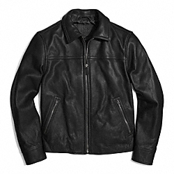 YEAR ROUND LEATHER BOMBER JACKET - BLACK - COACH F84971