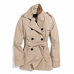 COACH ICONIC SHORT TRENCH - KHAKI - F84976