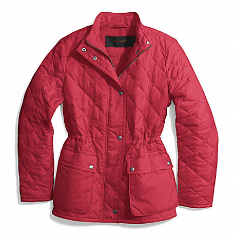 COACH DIAMOND QUILTED HACKING JACKET - LOGANBERRY - f84993