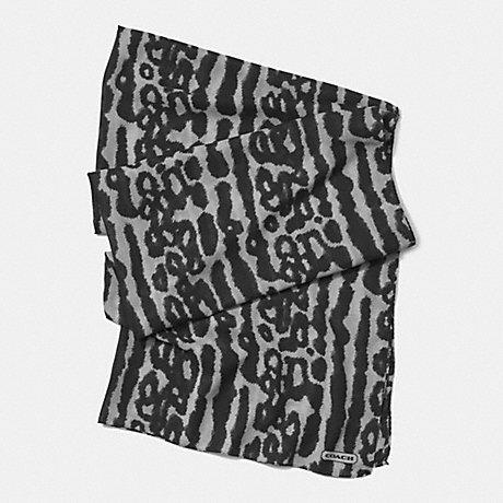 COACH f85002 OCELOT 30 x 80 SCARF GRAY