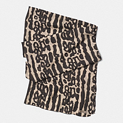 COACH OCELOT 30x80 SCARF - NATURAL - F85002