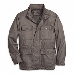 COACH COATED FIELD JACKET - GRAY - F85008