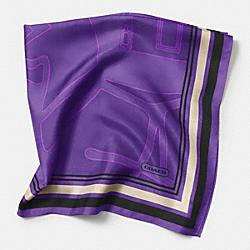 HORSE AND CARRIAGE 27x27 SCARF - PURPLE - COACH F85013