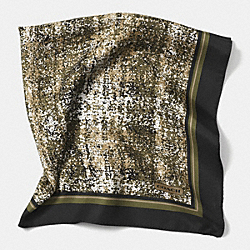 PRINTED TWEED 27X27 SCARF - OLIVE - COACH F85022
