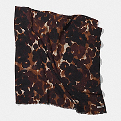 COACH ABSTRACT ANIMAL OVERSIZED SQUARE SCARF - MULTICOLOR - F85042