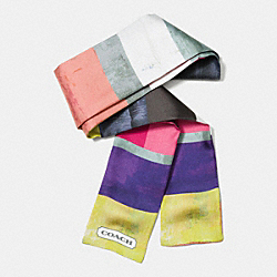 COACH PAINTED COLORBLOCK PONYTAIL SCARF - MULTICOLOR - F85043