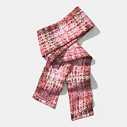 PRINTED TWEED PONYTAIL SCARF - ROSE PETAL - COACH F85045