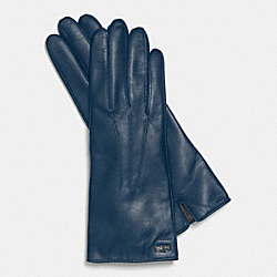 COACH LEATHER BASIC GLOVE - DENIM - F85066