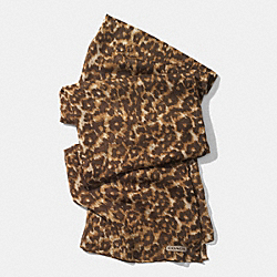 MADISON OCELOT OBLONG SCARF - KHAKI - COACH F85079