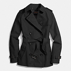 CLASSIC SHORT TRENCH - BLACK - COACH F85083