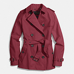 COACH CLASSIC SHORT TRENCH - OXBLOOD - F85083