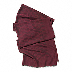 REPS JACQUARD OBLONG SCARF - f85086 -  BRICK
