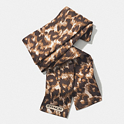 MADISON OCELOT PONYTAIL SCARF - KHAKI - COACH F85088