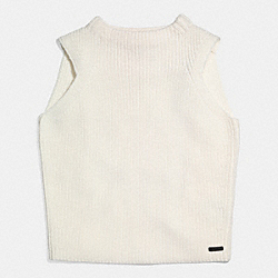 COACH MERINO SLEEVELESS TOP - WHITE - F85113